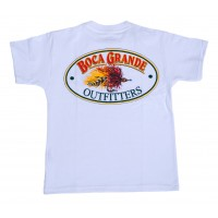 Boca Grande Outfitters Short Sleeved Fly Logo T-Shirt - White