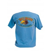 Boca Grande Outfitters Short Sleeved Fly Logo T-Shirt - Bay