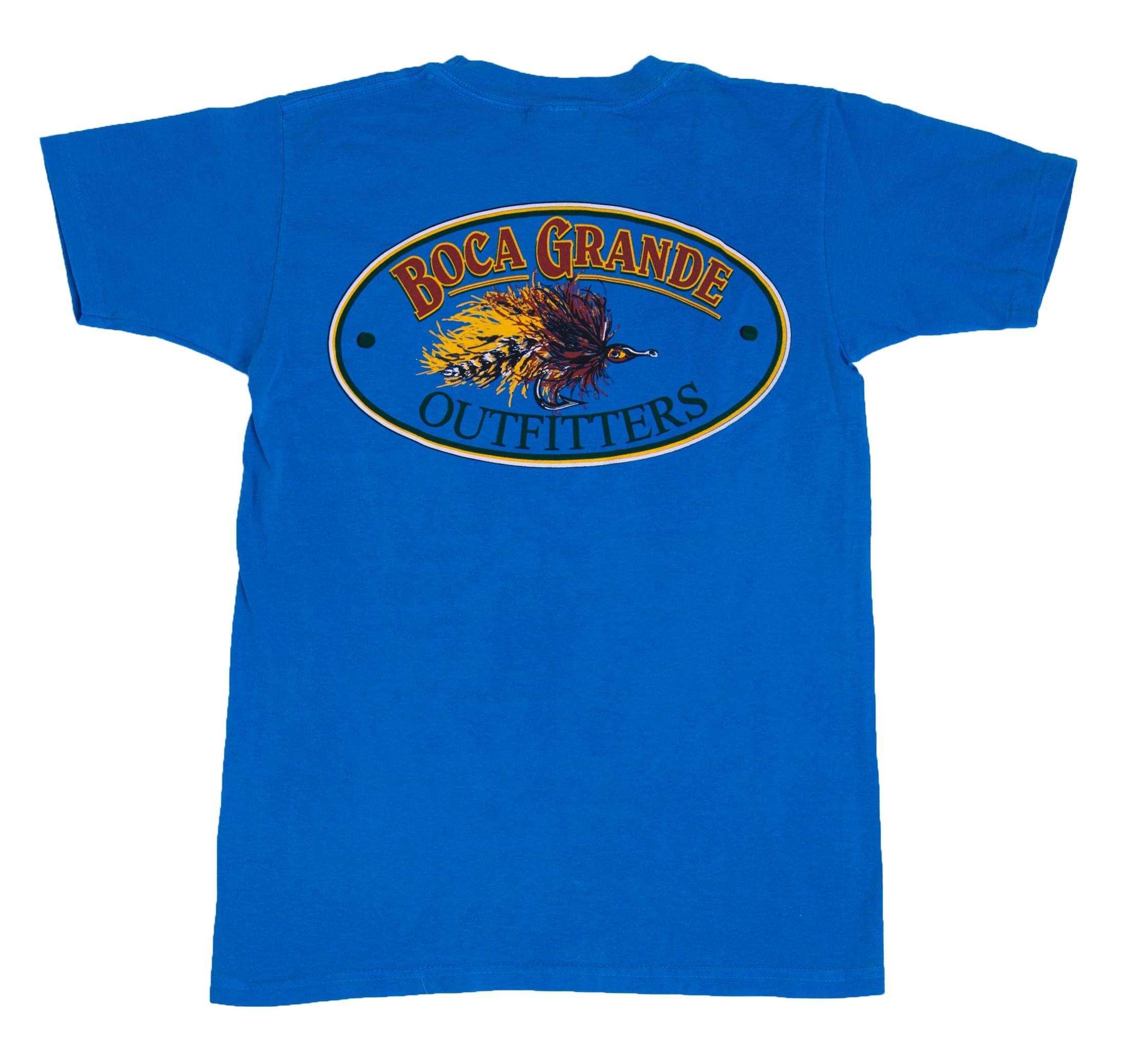 Boca Grande Outfitters Kids Short Sleeved Fly Logo T-Shirt - Western Sky