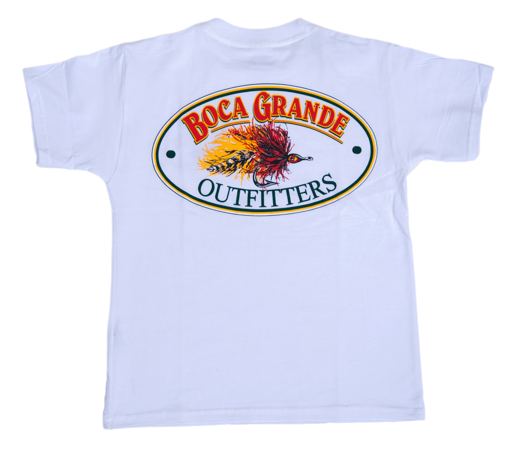 Boca Grande Outfitters Kids Short Sleeved Fly Logo T-Shirt White