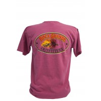 Boca Grande Outfitters Short Sleeved Fly Logo T-Shirt - Nantucket Red
