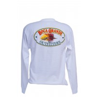 Boca Grande Outfitters Long Sleeved Fly Logo T-Shirt - White